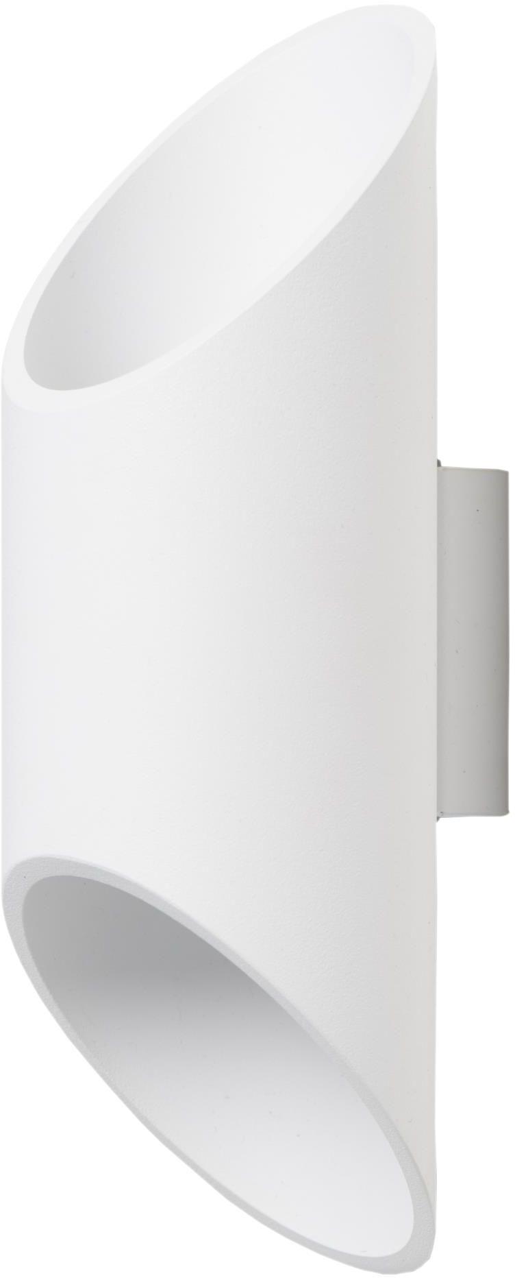 Lampex Wera biały 593/K BIA kinkiet lampa ścienna nowoczesny metalowy klosz biały G9 1x40W 10cm
