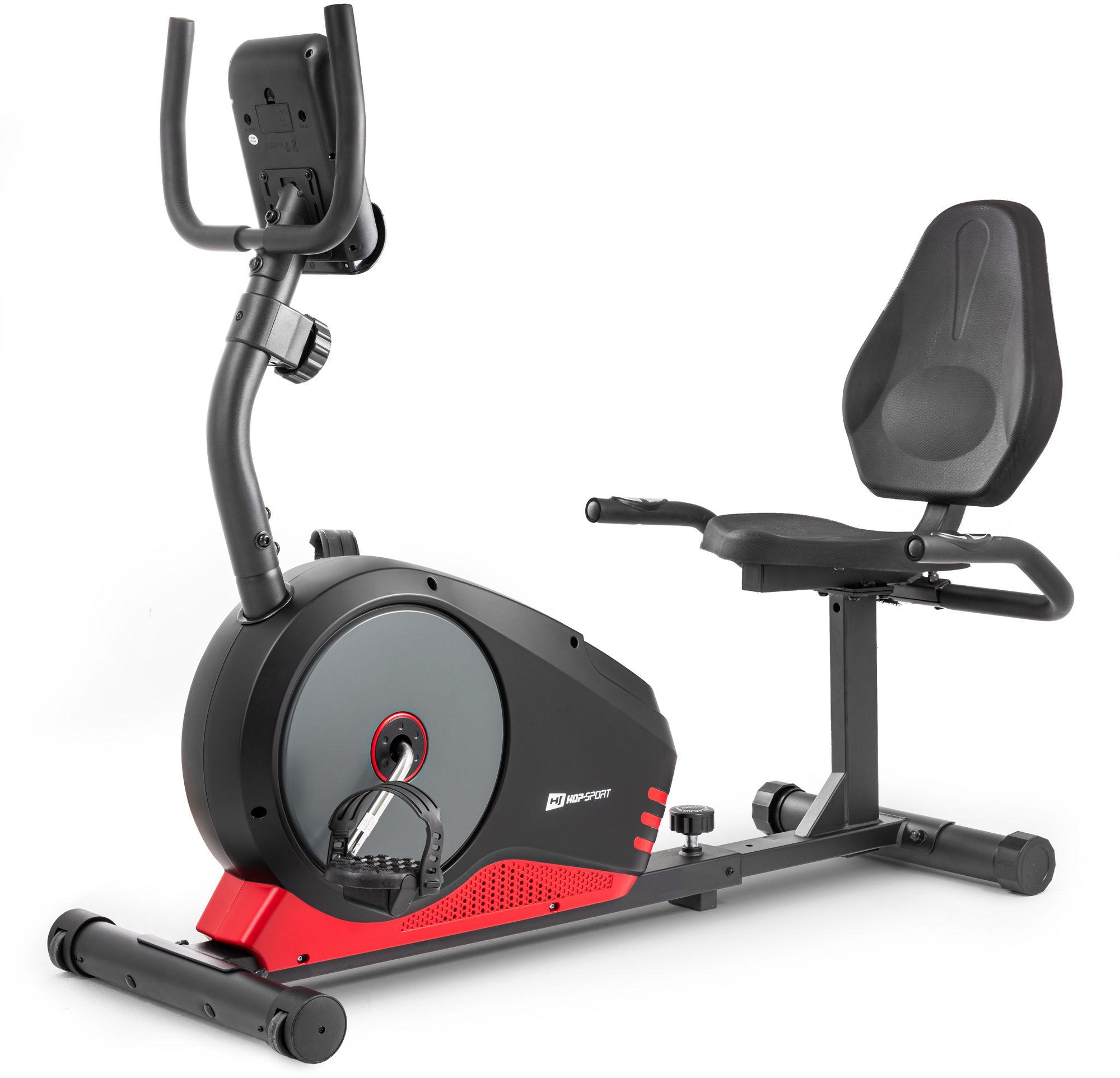 Rower leżący HS-040L Root czarny-czerwony