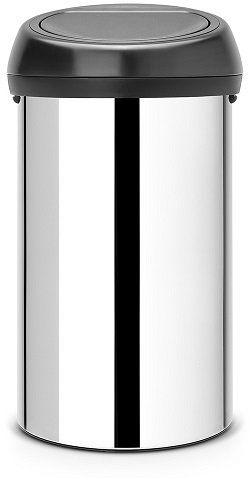 Kosz TOUCH BIN 60L Brilliant Steel / Matt Black