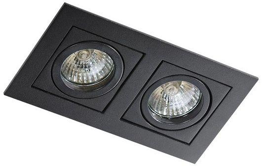 Oczko stropowe Paco 2 AZ0800 AZzardo podwójna oprawa w kolorze czarnym