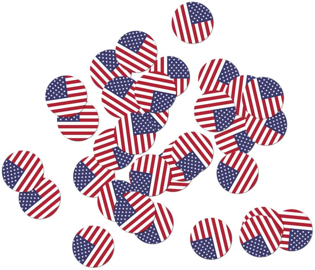 Konfetti Flaga Stanów Zjednoczonych - 36 szt.