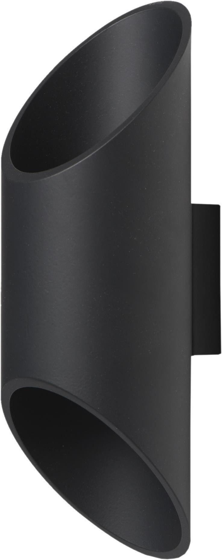 Lampex Wera czarny 593/K CZA kinkiet lampa ścienna nowoczesny metalowy klosz czarny G9 1x40W 10cm