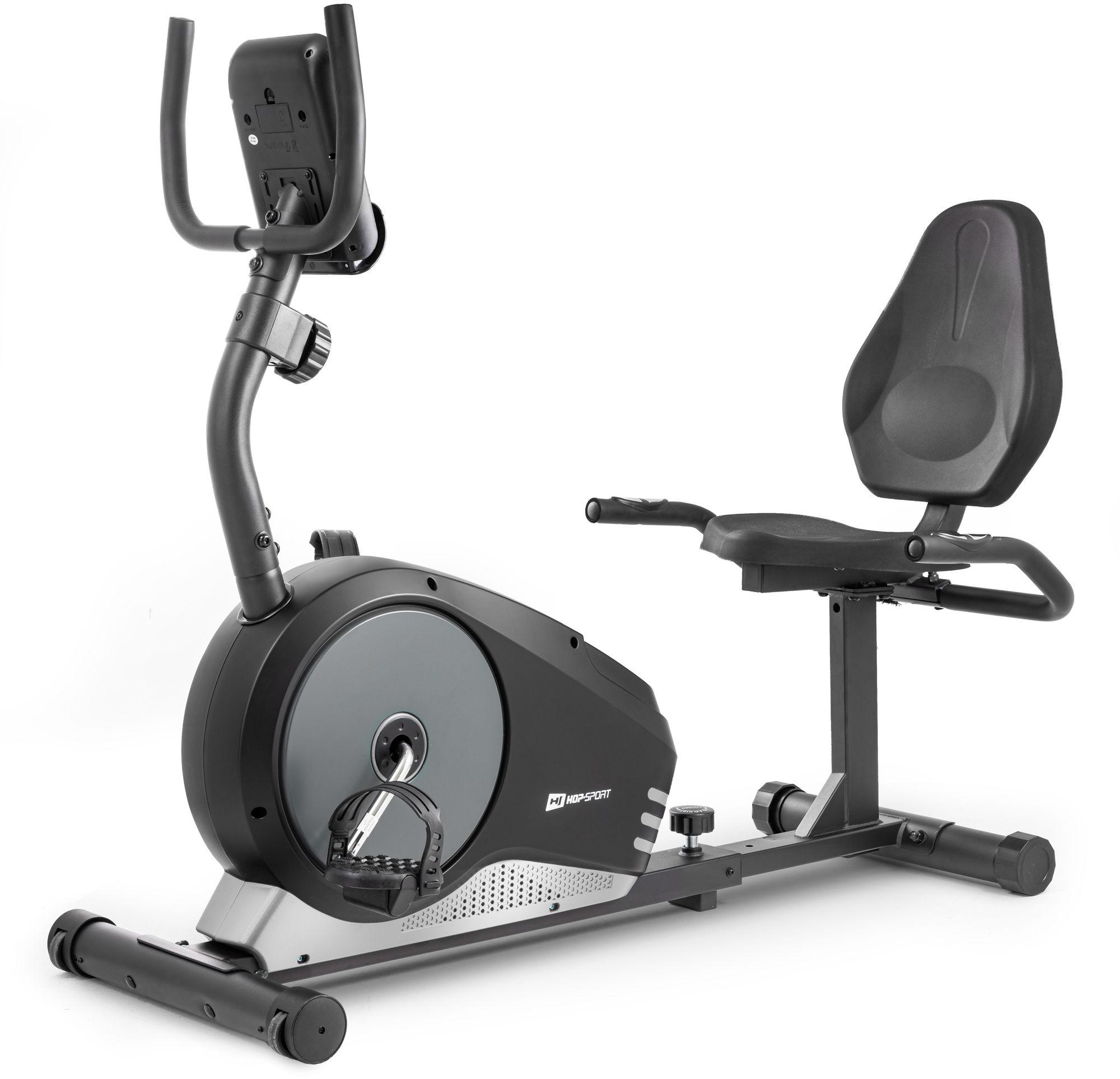 Rower leżący HS-040L Root czarny-srebrny