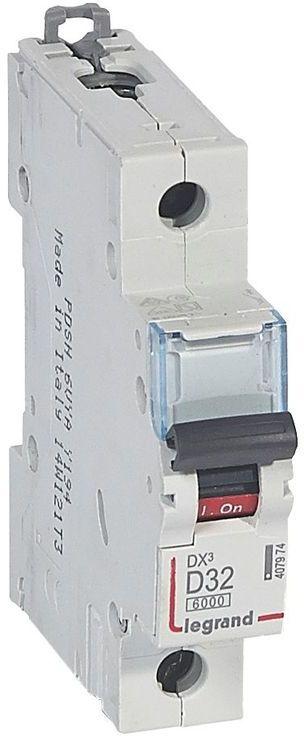 Wyłącznik nadprądowy 1P D 32A 6kA S301 DX3 407974