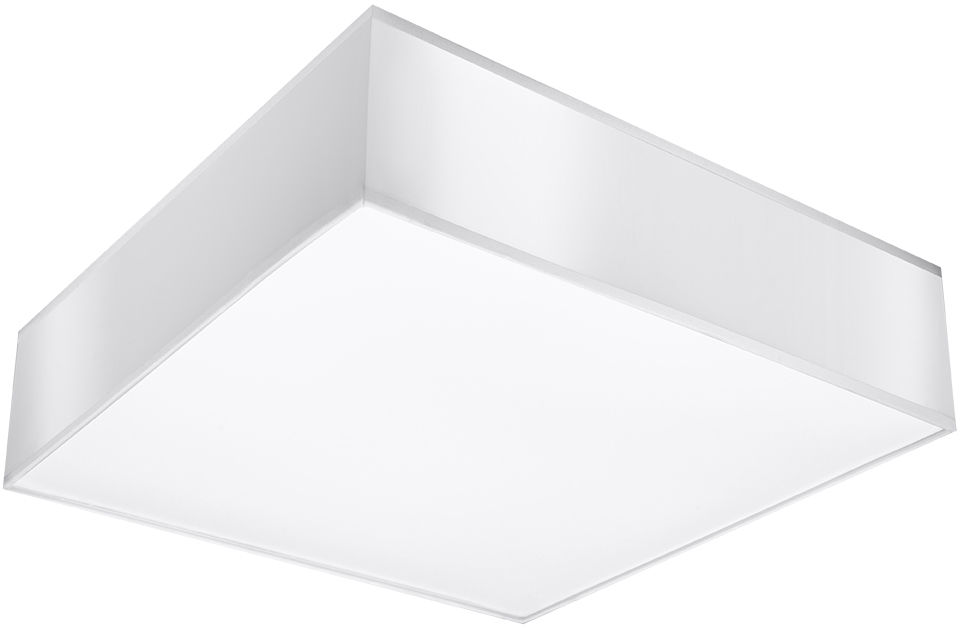 Biały minimalistyczny kwadratowy plafon - EX508-Horux