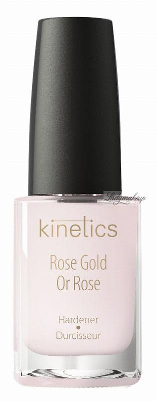 Kinetics - Rose Gold Hardener - Wzmacniająca odżywka do paznokci - Różowe Złoto