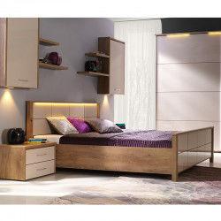 Łóżko WIEN NEW ELEGANCE płytowe, Rozmiar: 160x200, Pojemnik: Z pojemnikiem Darmowa dostawa, Wiele produktów dostępnych od ręki!