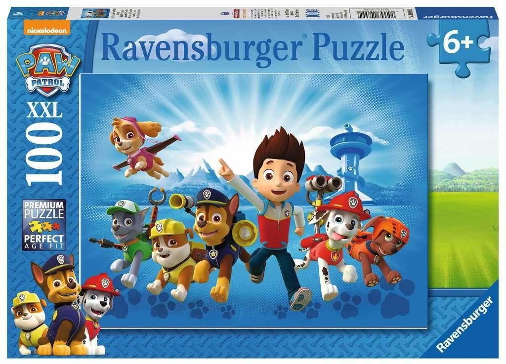 Ravensburger Puzzle 10899 Psi Patrol Na Ratunek 100 Elementów Puzzle Dla Dzieci (10899) Unikalne Elementy, Technologia Softclick - Klocki Pasują Idealnie