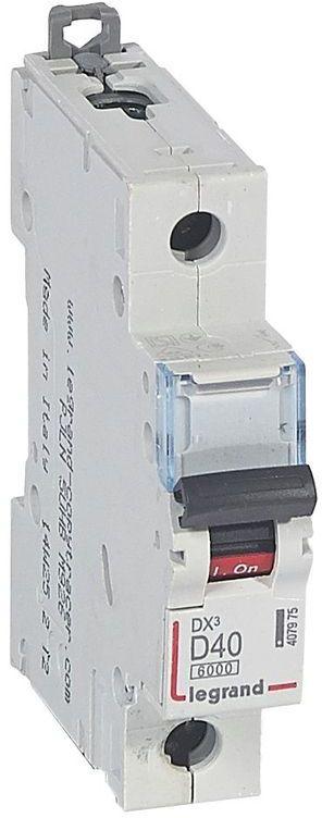 Wyłącznik nadprądowy 1P D 40A 6kA S301 DX3 407975