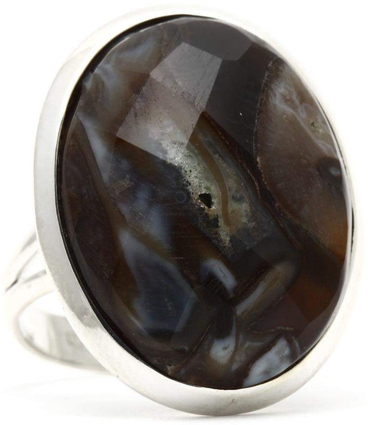 Kuźnia Srebra - Pierścionek srebrny, rozm. 14, Pietersyt, 6g, model