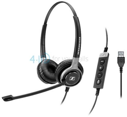 Sennheiser SC 660 USB słuchawka z mikrofonem do PC i telefonu komórkowego (złącze USB-A)