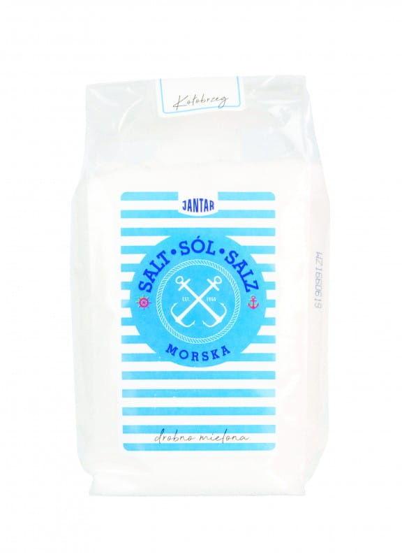 Sól morska drobno mielona 600 g - jantar