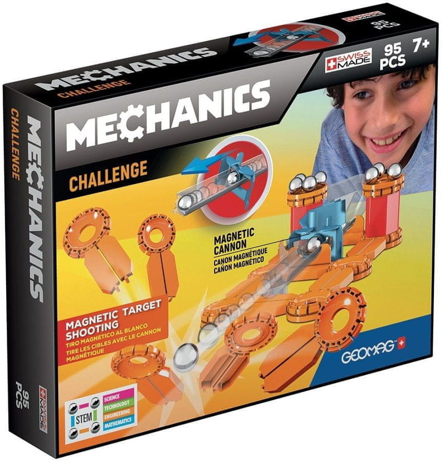 GeoMag - Klocki magnetyczne - Mechanics Challenge 95 el. 771