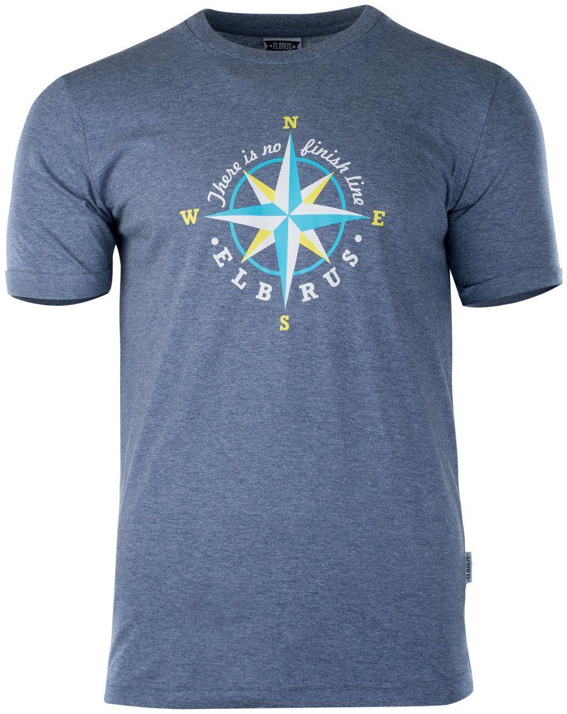 Elbrus Surgen t-shirt męski niebieski ciemnoniebieski (dark blue melange) S