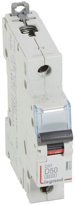 Wyłącznik nadprądowy 1P D 50A 6kA S301 DX3 407976