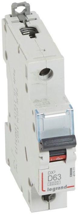 Wyłącznik nadprądowy 1P D 63A 6kA S301 DX3 407977