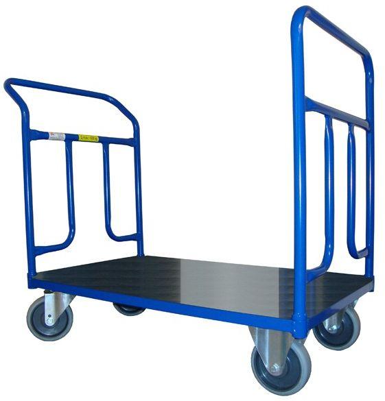 Wózek magazynowy dwuporęczowy, blacha (1000x700), 400 kg
