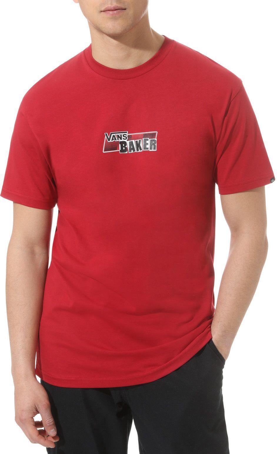 t-shirt męski VANS BAKER SPEED CHECK SS Cardinal
