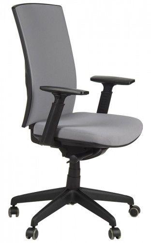 Krzesło biurowe obrotowe z wysuwem siedziska KB-8922B-S/SZARY, fotel biurowy - Stema