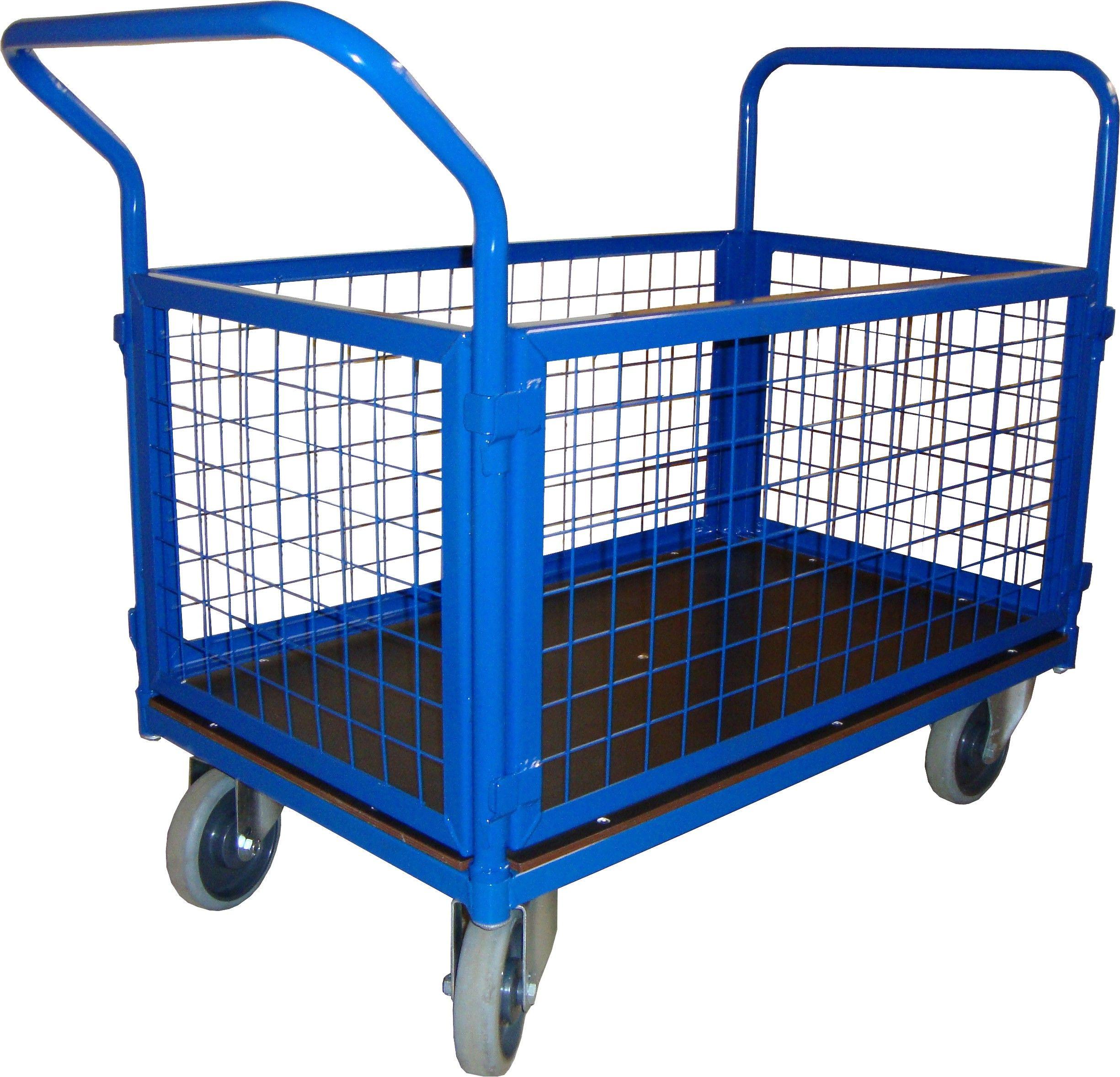 Wózek magazynowy platformowy osiatkowany