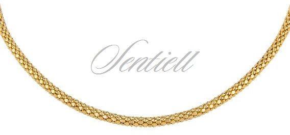 Łańcuszek srebrny 925 coreana pozłacany - żółte złoto