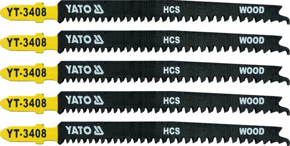 Brzeszczot do wyrzynarki typ t, 13-8 tpi, do drewna, 5 szt Yato YT-3408 - ZYSKAJ RABAT 30 ZŁ