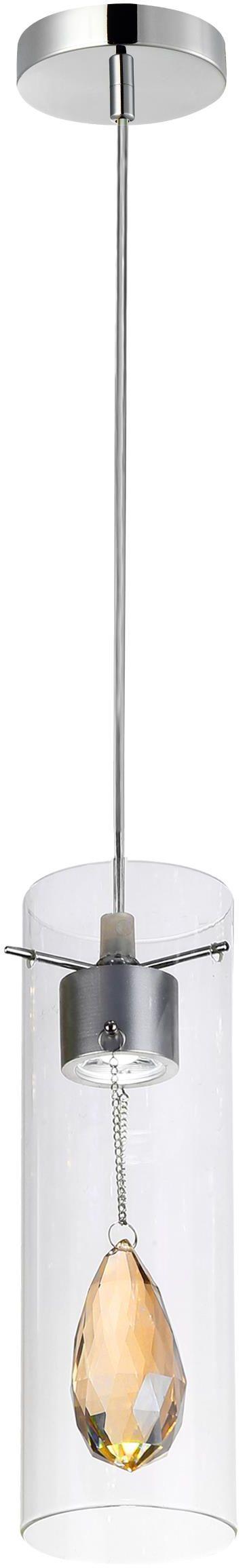 Lampex Deva 1 614/1 lampa wisząca nowoczesna podłużny szklany klosz osadzony na metalowej oprawie LED 1x 3W 10cm