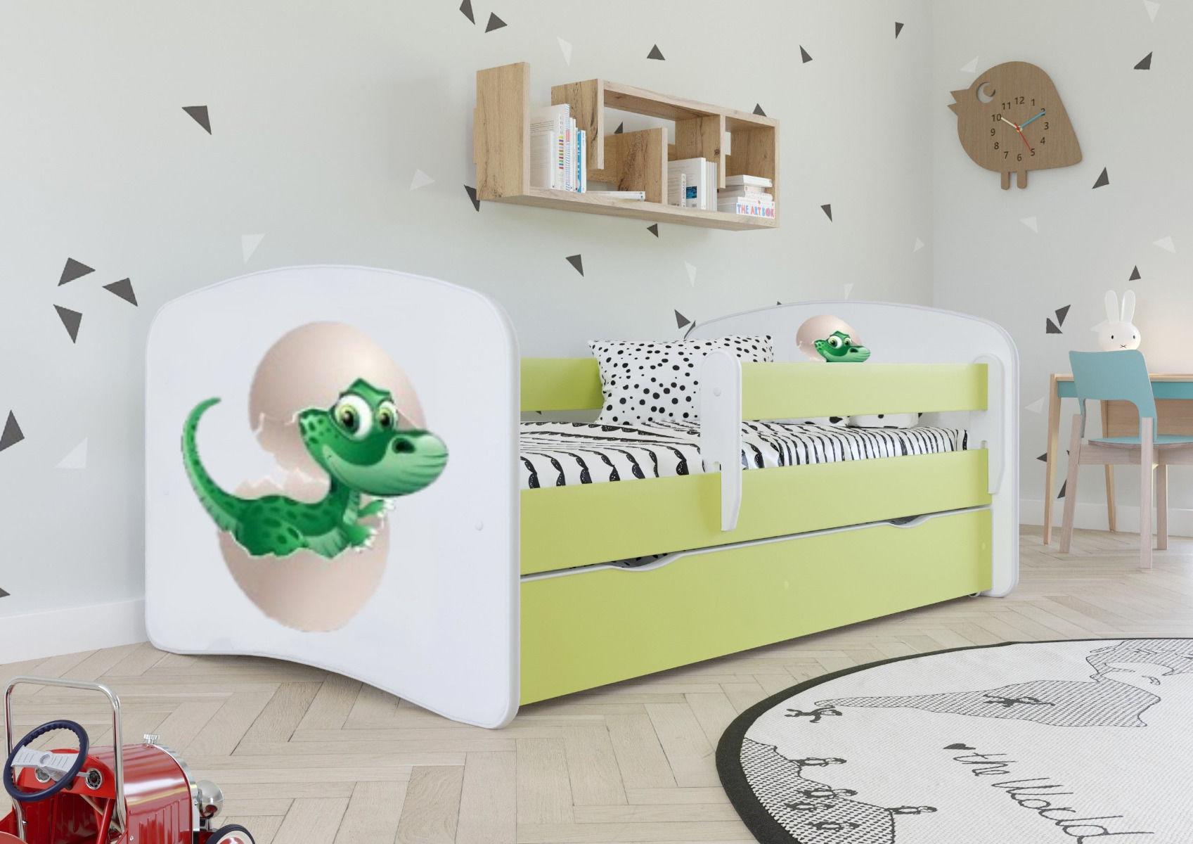 Łóżko dziecięce BABY DREAMS mały dino 140x70