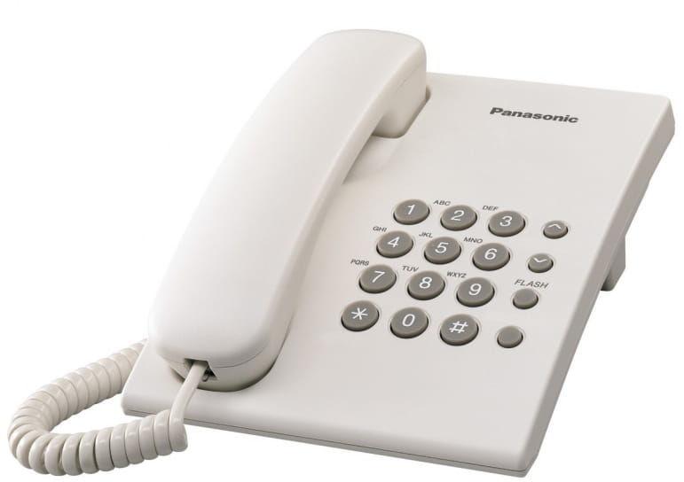 Panasonic KX-TS500PDW telefon przewodowy - biały
