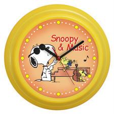 Zegar ścienny kolorowy Snoopy & music