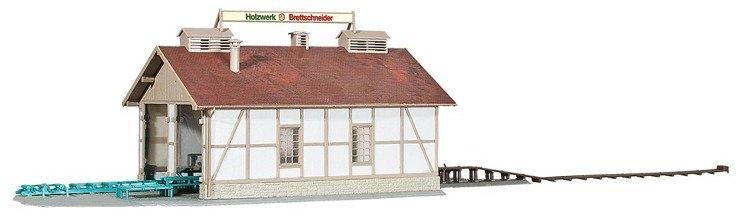 Budynek Produkcyjny Tartaku model H0 Kibri 39852