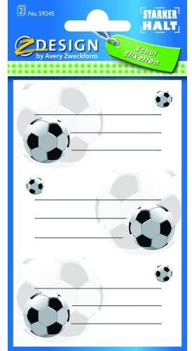 Naklejki Z-Design na książki i zeszyty - piłka nożna
