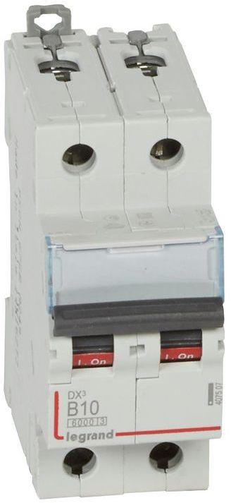 Wyłącznik nadprądowy 2P B 10A 6kA S302 DX3 407507