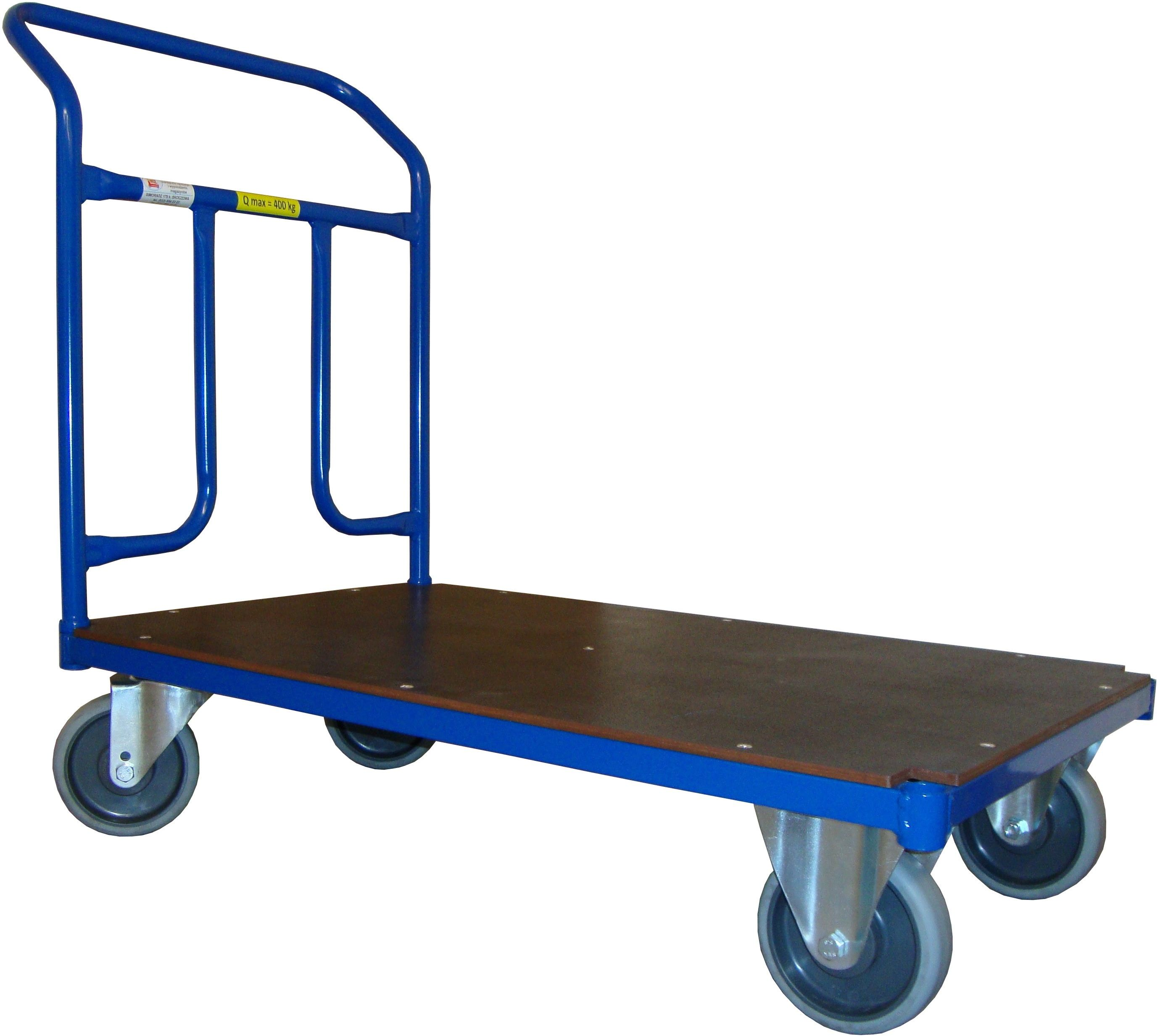 Wózek magazynowy platformowy, sklejka, 600 kg