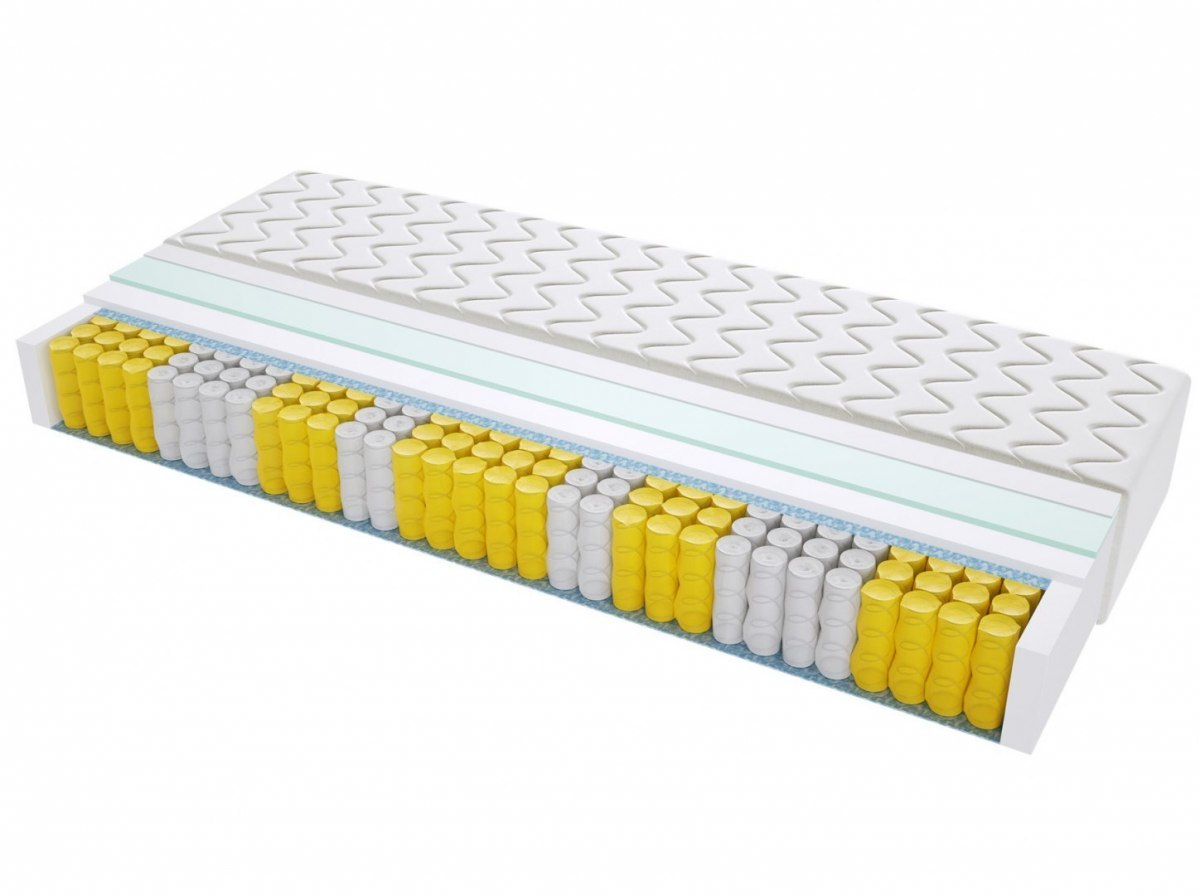 Materac kieszeniowy TURYN MAX PLUS 80x185 cm Średnio twardy Lateksowy jednostronny