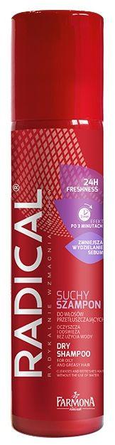 RADICAL Suchy szampon do włosów tłustych EKSTRA ŚWIEŻOŚĆ 180ml
