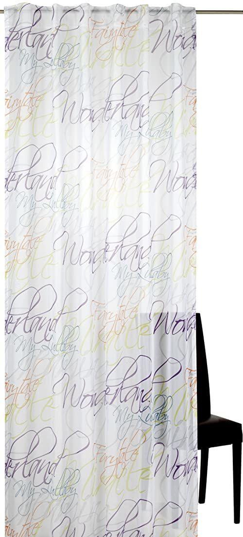 Elbersdrucke Script 04 gotowa dekoracja, poliester, kolorowa, 255 x 140 cm