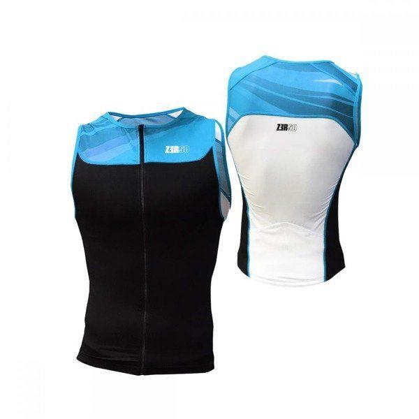 ZEROD Koszulka triathlonowa START TRISINGLET czarno-błękitna