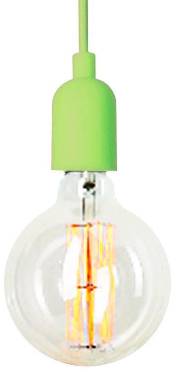 Lampex Siliko LIM 623/1 LIM lampa wisząca nowoczesna oprawa z gumy silikonowej zielona E27 1 60W 13cm
