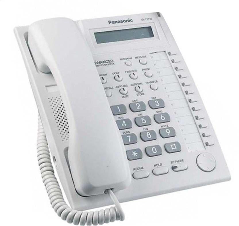 Panasonic KX-T7730X telefon systemowy hybrydowy - biały