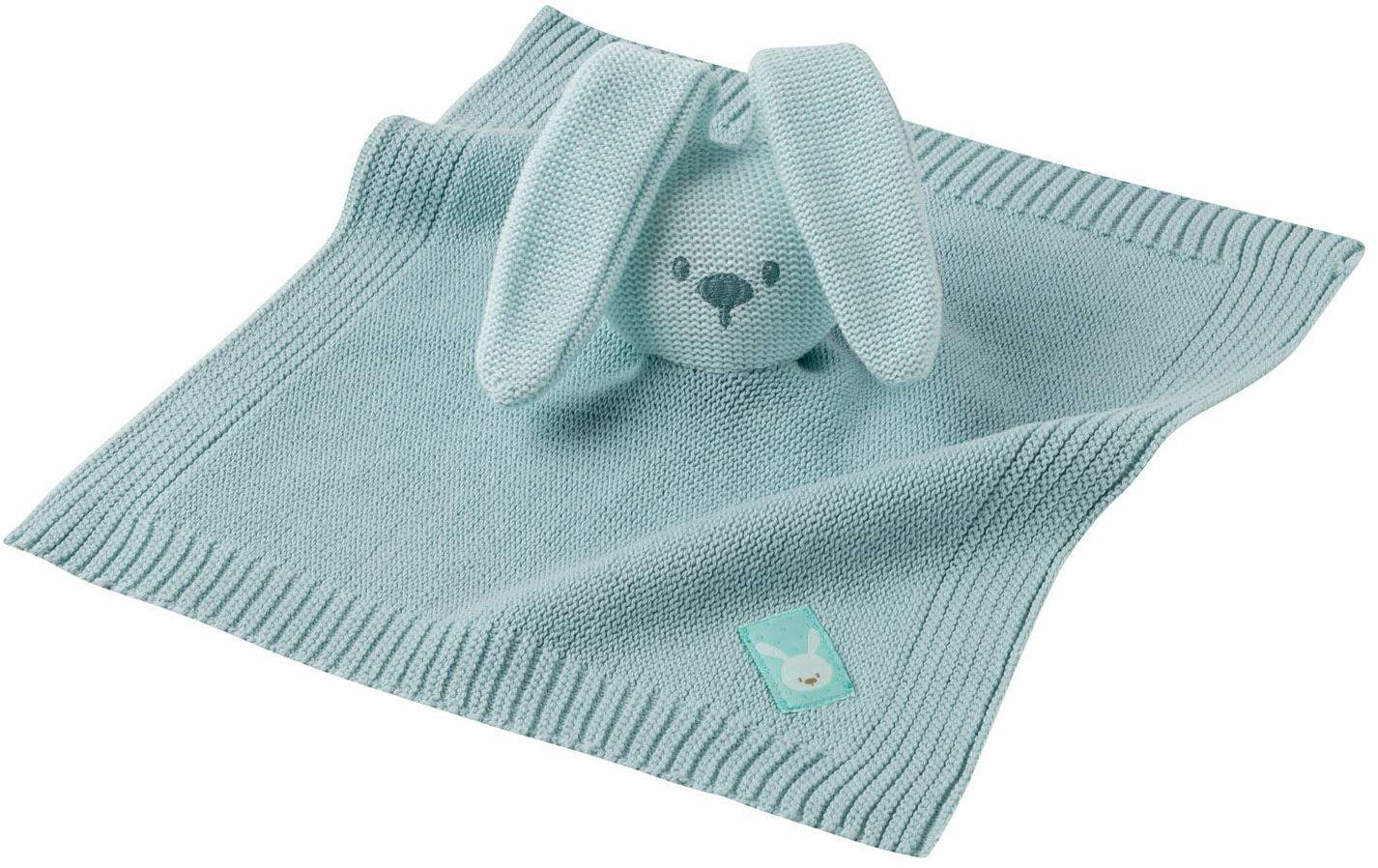 Nattou Ręcznik do żucia zając Lapidou, dzianina, towarzysz od narodzin, 42 cm, miętowa zieleń