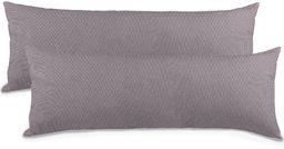 Aqua-Textil Classic Line Poduszka do Spania na Boku, Dżersej, Ciemnoszary, 40 x 145 cm, 2 sztuki