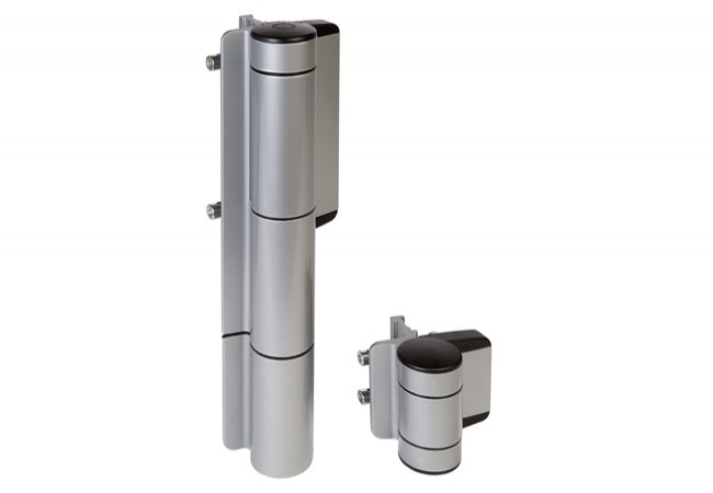 Hydrauliczny samozamykacz do furtek Locinox Mammoth-180 i zawias 180  w jednym, kolor aluminium