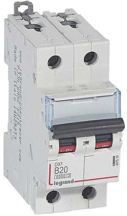 Wyłącznik nadprądowy 2P B 20A 6kA S302 DX3 407510