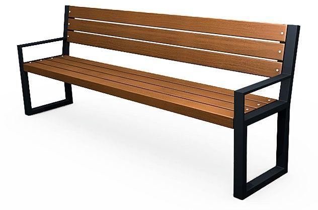 Stalowa ławka parkowa z oparciem Valkiria 4V