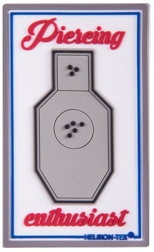 Naszywka Helikon Pierceing Enthusiast PVC White (OD-PCE-RB-20) H