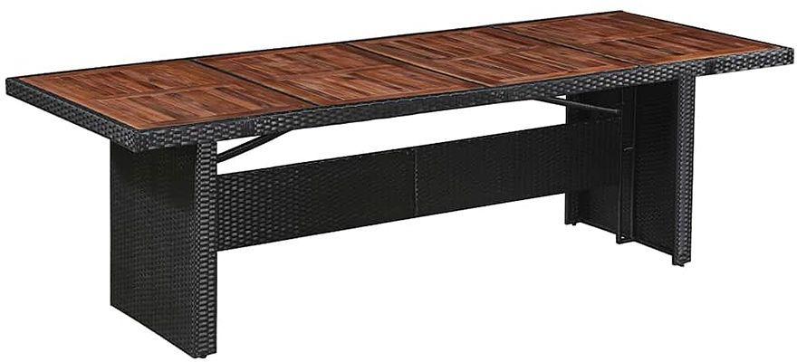 Sielski stół ogrodowy Semma - brązowo-czarny