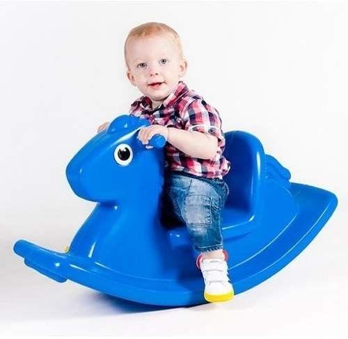 Little Tikes Koń na Biegunach Niebieski