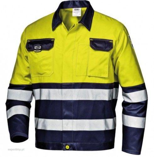 Bluza robocza ostrzegawcza MISTRAL SIR w kolorze żółto- granatowym z pasami odblaskowymi