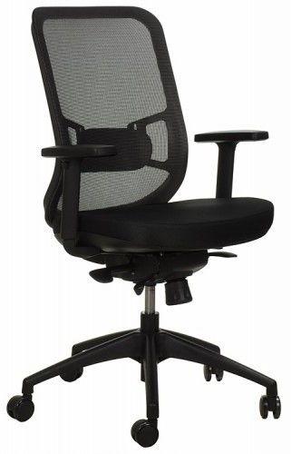 Krzesło obrotowe biurowe GN-310/SZARY z wysuwem siedziska - Stema
